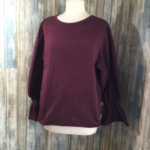 Zara Trafaluc sweater (M) 100% cotton bell sleeves